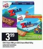 Clif Z-bars 180 G Or Clif Z-bars Filled 120 G