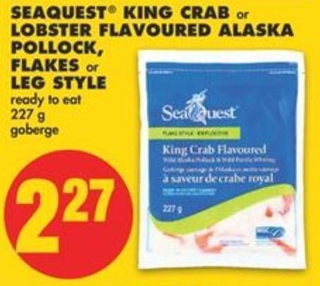 Seaquest King Crab Or Lobster Flavoured Alaska Pollock - Flakes Or Leg Style - 227 G