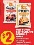 Old Dutch Restaurante Tortilla Chips - 300/310 g