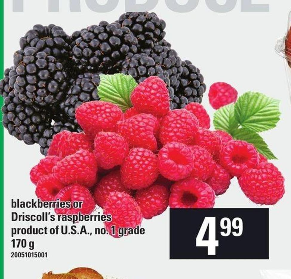 Blackberries Or Driscoll's Raspberries - 170 g