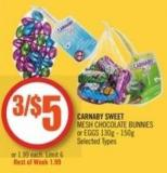 Carnaby Sweet Mesh Chocolate Bunnies or Eggs 130g - 150g