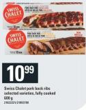 Swiss Chalet Pork Back Ribs - 600 g