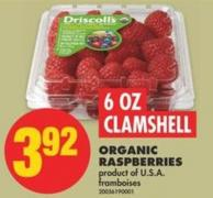 Organic Raspberries - 6 Oz Clamshell