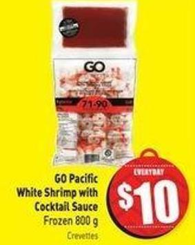 Go Pacific White Shrimp With Cocktail Sauce Frozen 800 g