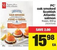 PC Oak Smoked Scottish Atlantic Salmon - 300 g