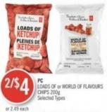 PC Loads Of or World Of Flavours Chips