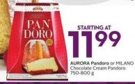 Aurora Pandoro or Milano Chocolate Cream Pandoro 750-800 g
