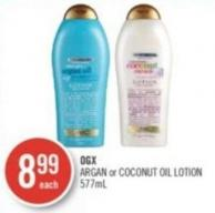 Ogx Argan or Coconut Oil Lotion 577ml