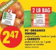 PC Organics Onions or Carrots - 2 Lb Bag