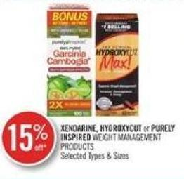 Xendarine - Hydroxycut or Purely Inspired Weight Management Products