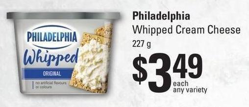Philadelphia Whipped Cream Cheese 227 g