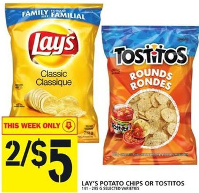 Lay's Potato Chips Or Tostitos
