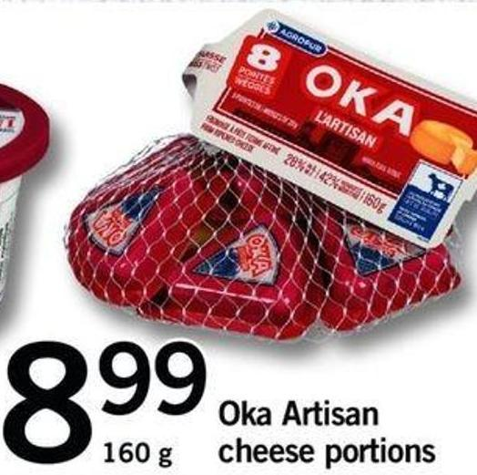 Oka Artisan Cheese Portions - 160 G