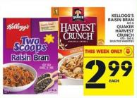 Kellogg's Raisin Bran Or Quaker Harvest Crunch