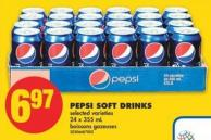 Pepsi Soft Drinks - 24 X 355 mL