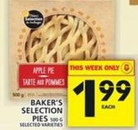 Baker's Selection Pies