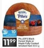 Piller's Black Forest Style or Maple Fully Cooked Smoked Ham - 10 Air Miles Bonus Miles