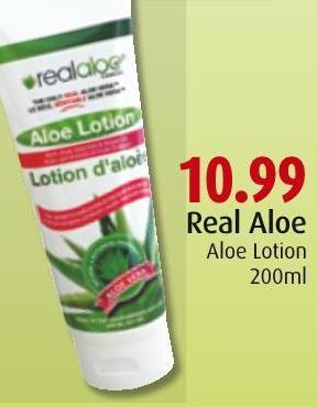 Real Aloe Aloe Lotion 200ml