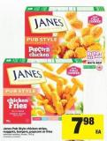 Janes Pub Style Chicken Strips - Nuggets - Burgers - Popcorn Or Fries - 700 G