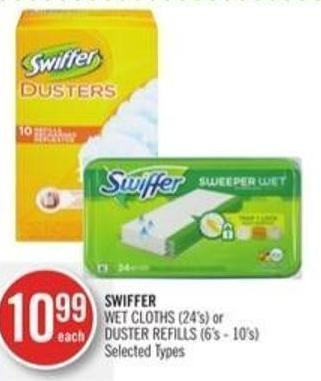 Swiffer Wet Cloths (24's) or Duster Refills (6's - 10's)