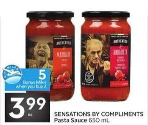 Sensations By Compliments Pasta Sauce - 5 Air Miles Bonus Miles