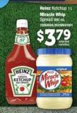 Heinz Ketchup - 1 L Miracle Whip Spread - 890 Ml