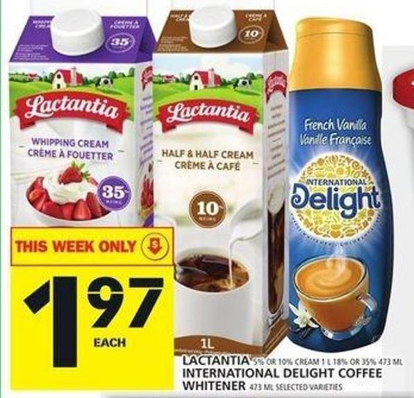 Lactantia - International Delight Coffee