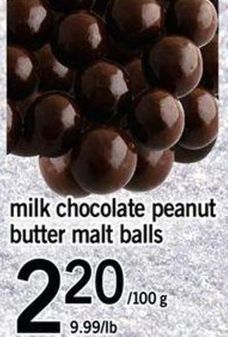 Milk Chocolate Peanut Butter Malt Balls