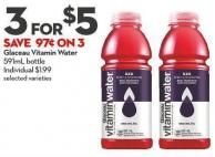 Glaceau Vitamin Water  591ml Bottle