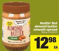 Nuttin But Almond Butter Smooth Spread - 765 g