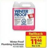 Winter Proof Plumbing Antifreeze