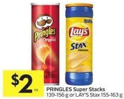Pringles Super Stacks 139-156 g or Lay's Stax 155-163 g