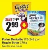 Purina Dentalife 193-248 g or Beggin' Strips 170 g