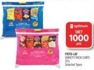 Frito-lay Variety Pack Chips 20's