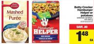 Betty Crocker Hamburger Helper Or Potatoes - 141-240 G