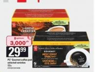 PC Gourmet Coffee PODS - 72's