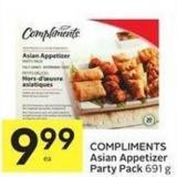 Compliments Asian Appetizer Party Pack