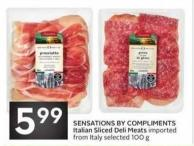 Sensations By Compliments Italian Sliced Deli Meats