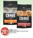 Crave (1.8kg) or Nutro Wholesome (2.27kg) Pet Food