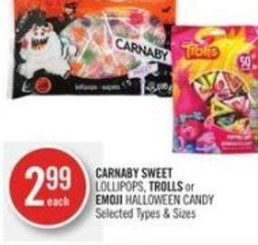 Carnaby Sweet Lollipops - Trolls or Emoji Halloween Candy