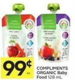 Compliments Organic Baby Food 128 mL