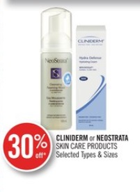 CLINIDERM or NEOSTRATA SKIN CARE PRODUCTS