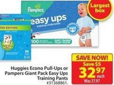Pampers Giant Pack Easy Ups