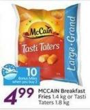 Mccain Breakfast Fries - 10 Air Miles Bonus Miles