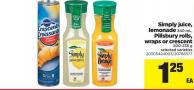 Simply Juice - Lemonade 340 Ml - Pillsbury Rolls - Wraps Or Crescent 200-235 G