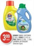 Downy Fabric Softener (1.02l) - Purex (1.47l) or Tide Simply (1.09l - 1.18l) Laundry Detergent