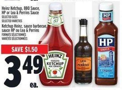 Heinz Ketchup - Bbq Sauce - HP or Lea & Perrins Sauce