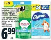 Charmin Bathroom Tissue - Bounty Paper Towels Or Cascade Dishwasher Detergent