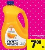 PC Orange Juice 100% Club Pack - 3.49 L