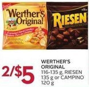 Werther's Original 116-135 g - Riesen 135 g or Campino 120 g